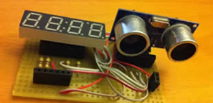 Tutorials with Arduino: Range Sensor with LCD and 7 segment led #display #arduino