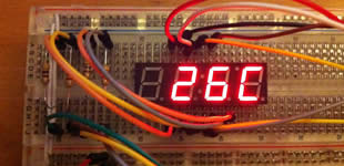 Tutorials with Arduino: Digital thermometer #arduino #display