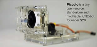 News: Piccolo the Tiny #CNC #bot with #arduino